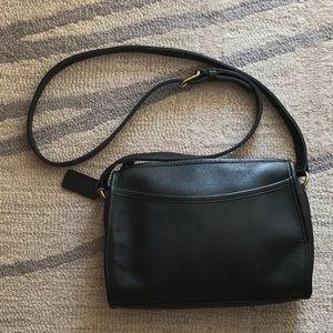 Vintage Coach Hand Bag Deep Olive Green
